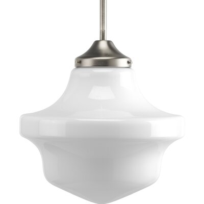 Kandra 1-Light Schoolhouse Pendant Finish: Brushed Nickel