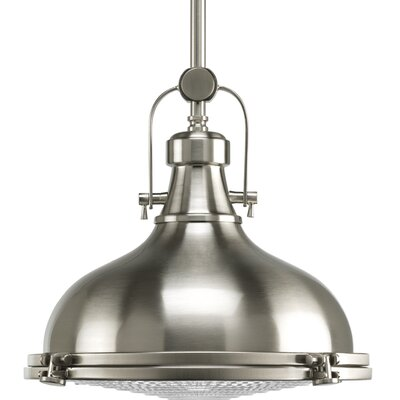 Freeda 1-Light Schoolhouse Pendant Size: 13.25 x 16 x16, Finish: Oil Rubbed Bronze