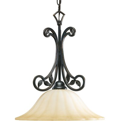 Triplehorn 1-Light Mini Foyer Pendant Finish: Espresso