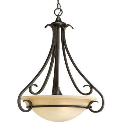 Lilly 3-Light Glass Shade Inverted Pendant