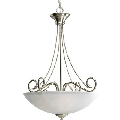 Adrienne 3-Light Bowl Pendant Finish: Brushed Nickel