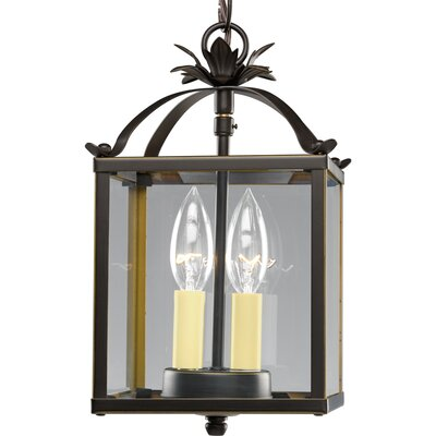 2-Light Foyer Pendant Finish: Antique Bronze