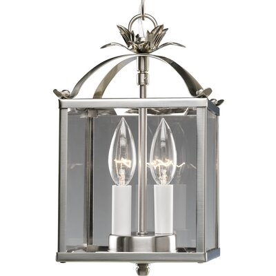 2-Light Foyer Pendant Finish: Plated