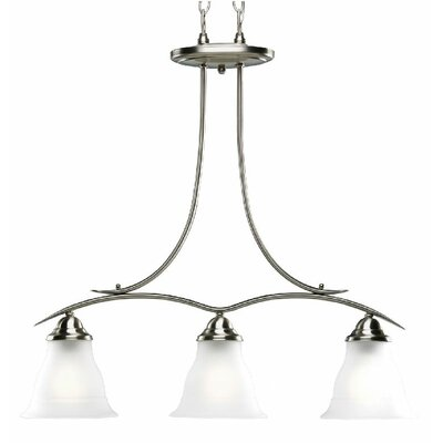 Trinity Linear 3-Light Kitchen Island Pendant Finish: Brushed Nickel