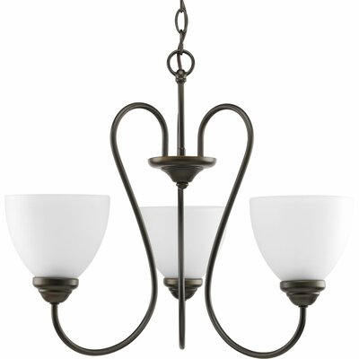 Yakubu 3-Light Shaded Chandelier