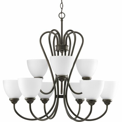 Yakubu 9-Light Shaded Chandelier