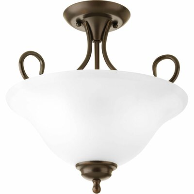 Wetherbee 2-Light Semi-Flush Mount Color: Antique Bronze