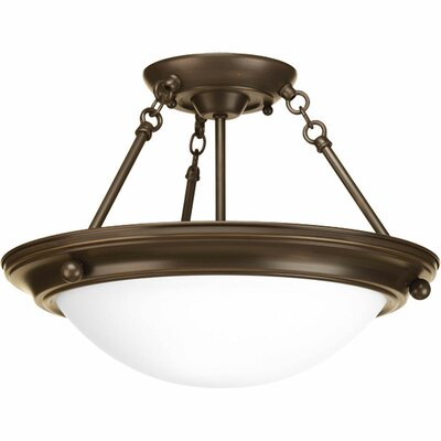 Tod 2-Light Metal Semi-Flush Mount