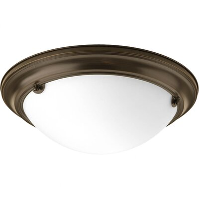 Eclipse 2-Light Flush Mount Finish: Antique Bronze, Bulb Type: Compact Fluorescent