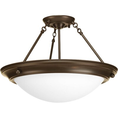 Eclipse 3-Light Semi-Flush Mount Finish: Antique Bronze