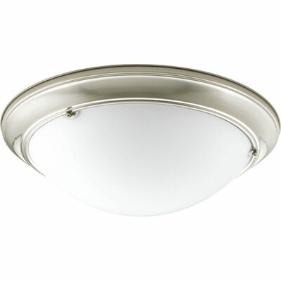 Tod Modern 3-Light Flush Mount Finish: Brushed Nickel