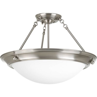 Eclipse 3-Light Semi-Flush Mount Finish: Brushed NIckel