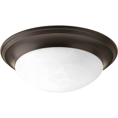 Alabaster 2-Light Flush Mount