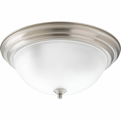 3-Light Flush Mount Finish: Brushed Nickel