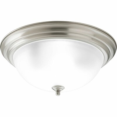 Rosemont 3-Light Flush Mount Finish: Brushed Nickel