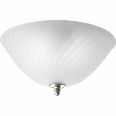 Terrie 2-Light Glass Shade Flush Mount Color: Brushed Nickel