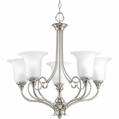 Terrie 5-Light Chain Shaded Chandelier