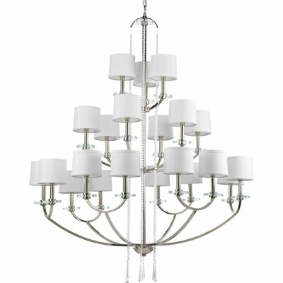 Renee 21-Light Shaded Chandelier