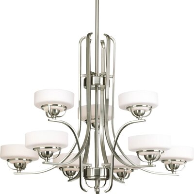 Knue 9 Light Drum Chandelier Finish: Brushed Nickel