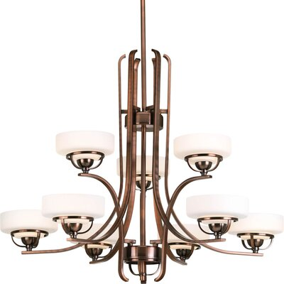 Torque 9 Light Drum Chandelier Finish: Copper Bronze
