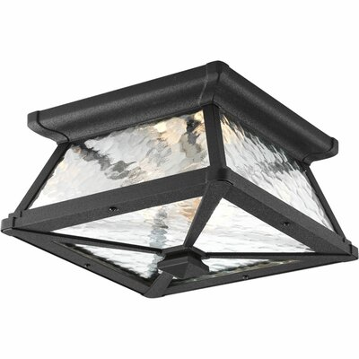 Triplehorn 2-Light Black Flush Mount
