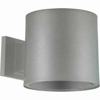 6 Wall Mount Cylinder Finish: Metallic Gray