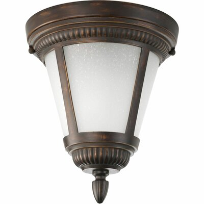 Triplehorn 1-Light Flush Mount Finish: Antique Bronze