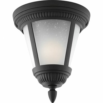 Triplehorn 1-Light Flush Mount Finish: Black