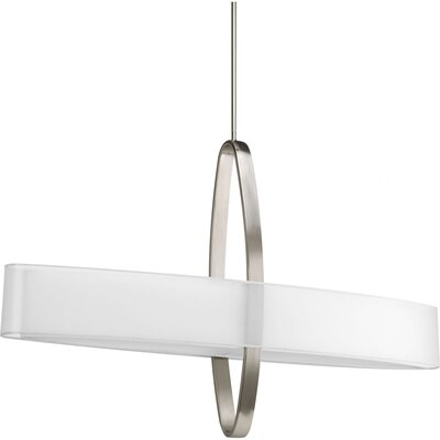 Raveena 2-Light Geometric Pendant Size: 26.5 H x 42 W x 8 D, Finish: Brushed Nickel