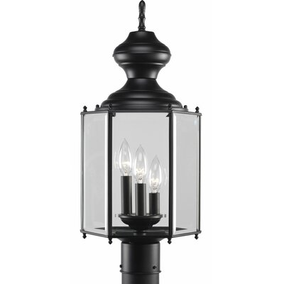Triplehorn 3-Light Traditional Lantern Head in Black