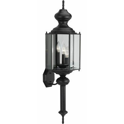 Triplehorn 1-Light Sconce in Black Beveled Glass