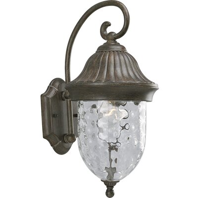 Triplehorn 1-Light Outdoor Hammered Wall lantern Finish: Fieldstone