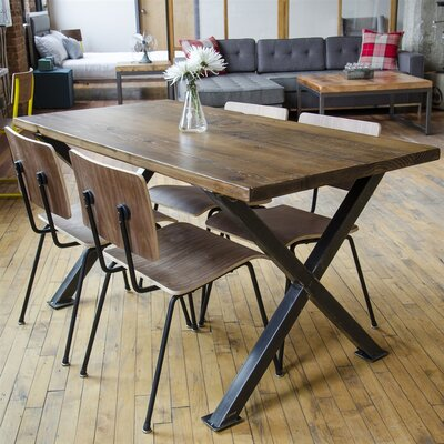 Dining Table Size: 30 H x 42 W x 108 L, Top Finish: Oil
