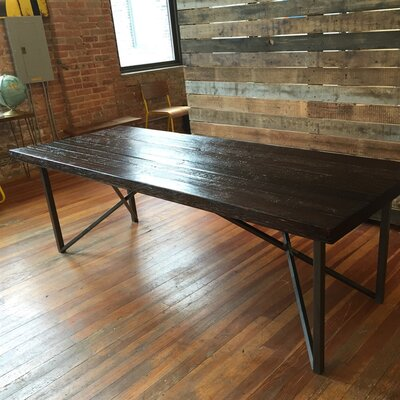 Belmont Dining Table Size: 30 inch H x 40 inch W x 96 inch L, Top Finish: Clear