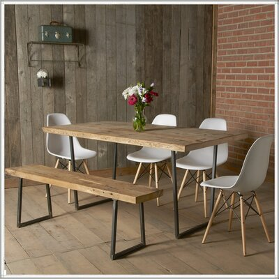 Brooklyn Dining Table Top Finish: Natural, Size: 42 H x 42 W x 108 L
