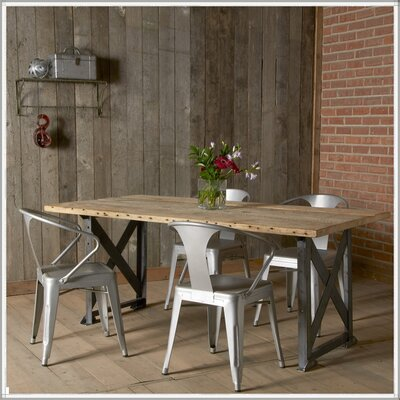 Dining Table Size: 30 H x 36 W x 84 L, Top Finish: Natural