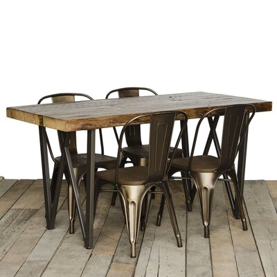 West Loop Dining Table Top Finish: Oil, Size: 30