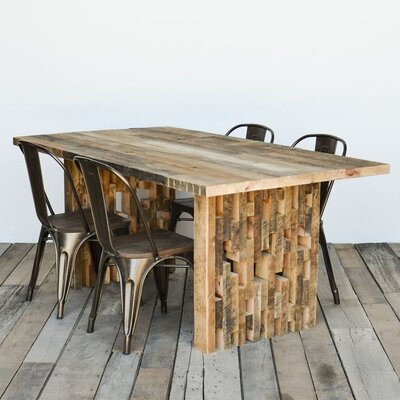 The Space Between Dining Table Finish: Natural, Size: 30 H x 40 W x 84 L