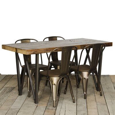 West Loop Dining Table Top Finish: Clear, Size: 30