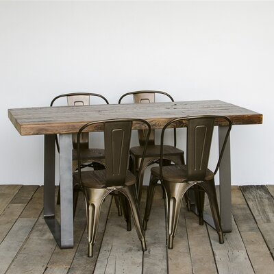 Lincoln Park Dining Table Top Finish: Natural, Size: 30 H x 36 W x 72 L