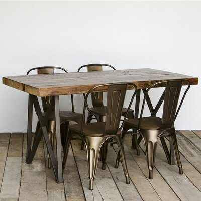 Monarch Dining Table Size: 30 H x 36 W x 84 L, Top Finish: Walnut