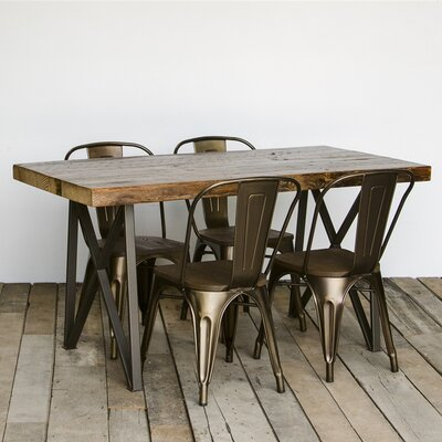 Monarch Dining Table Size: 30 inch H x 36 inch W x 84 inch L, Top Finish: Oil