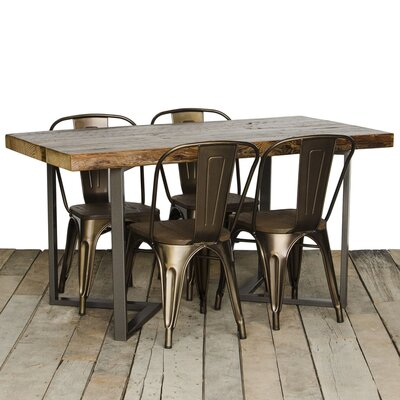 Dining Table Size: 30 H x 36 W x 84 L, Top Finish: Espresso