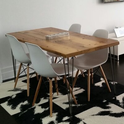 Dining Table Size: 30 H x 36 W x 72 L, Top Finish: Oil