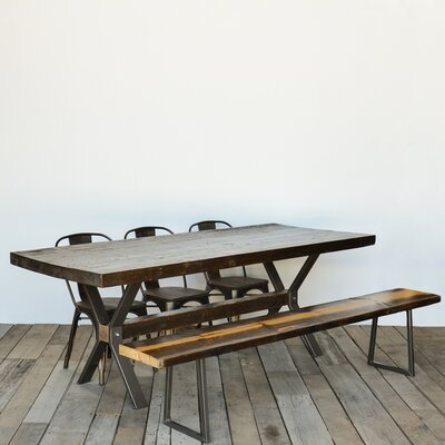Dining Table Top Finish: Walnut, Size: 30 H x 42 W x 108 L