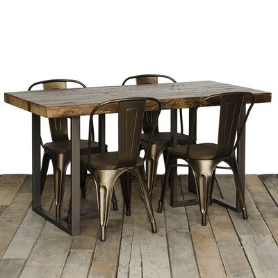 Uptown Dining Table Size: 30 H x 36 W x 84 L, Top Finish: Oil