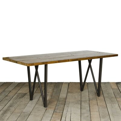 West Loop Dining Table Top Finish: Walnut, Size: 30 H x 42 W x 108 L