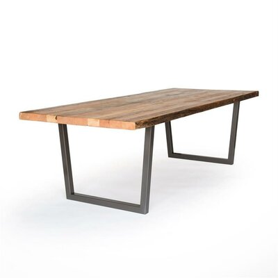 Brooklyn Dining Table Top Finish: Natural, Size: 42 H x 40 W x 96 L