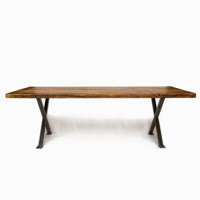 Dining Table Top Finish: Natural, Size: 30 H x 42 W x 108 L