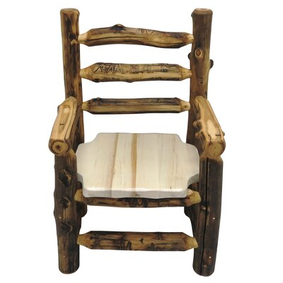 Aspen Grizzly Solid Wood Dining Chair Finish: Golden Poly